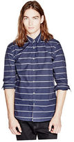 G by Guess GByGUESS Men's Marston Striped Shirt