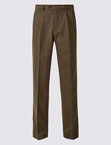 M&s Collection Tailored Wool Blend Single Pleated Trousers