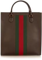 Gucci Web-panel leather tote