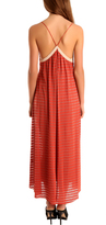 A.L.C. Long Summer Dress Crimson Stripe