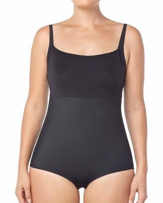 Leonisa Women's Undetectable Edge Supportive Bust Complete Bodysuit Shaper