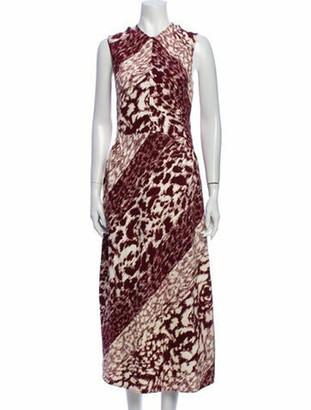 Victoria Beckham Animal Print Long Dress w/ Tags
