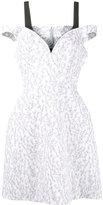 Natasha Zinko floral print cold-shoulder dress - women - Cotton/Polyamide/Polyester - 36
