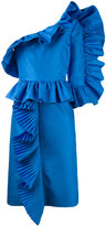 Gucci one shoulder Modern dress - women - Silk/Polyamide/Acetate - 38