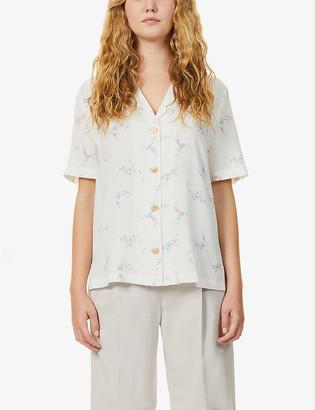 Kitri Tammy floral-print crepe shirt