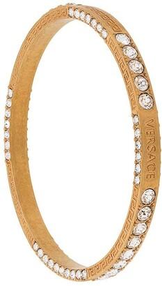 Versace Greca crystal bangle bracelet