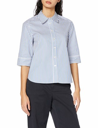 Scotch & Soda Women's Clean Shirt with 3/4 Sleeves Blouse