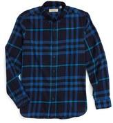 Burberry 'Ecclestone' Trim Fit Plaid Sport Shirt