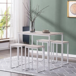 Overstock Simple Breakfast Bar Bistro Table and Chairs Set of 5