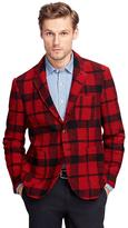 Brooks Brothers Check Knit Blazer