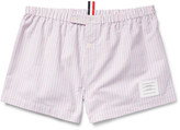 Thom Browne - Striped Cotton Oxford Boxer Shorts