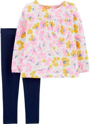 Carter's Toddler Girl Floral Top & Leggings Set