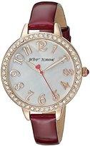 Betsey Johnson Women's BJ00552-05 Analog Display Quartz Red Watch