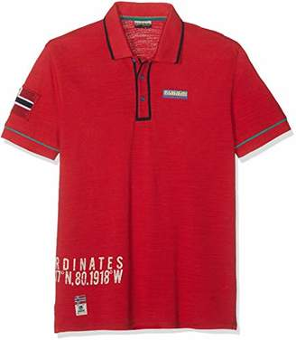 Napapijri Men's Elize Polo Shirt, True Red R70, (Size: )