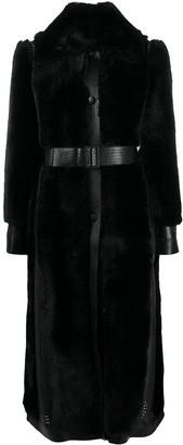 Stella McCartney Faux-Shearling Single-Breasted Coat