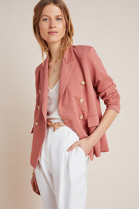 Bishop + Young Thea Double-Breasted Blazer By in Pink Size S P