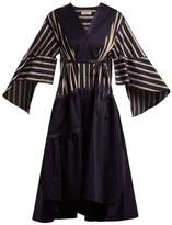 Palmer Harding PALMER//HARDING Contrast-panel cotton dress