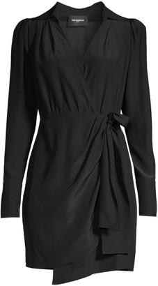 The Kooples Silk Wrap Shirtdress