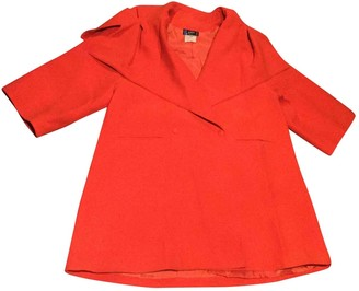 Claude Montana Red Wool Coats