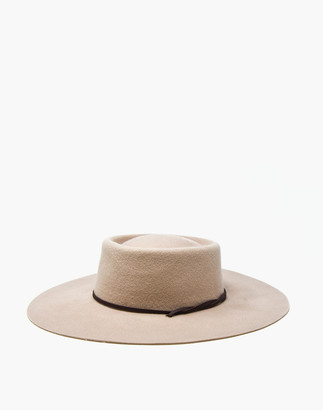 Madewell WYETH Felt Montana Boater Hat