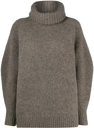 LOULOU STUDIO Balloon-Sleeve Roll Neck Sweater