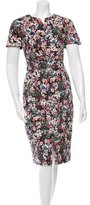 Erdem Floral Print Sheath Dress