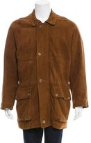 Loro Piana Cashmere-Lined Suede Coat
