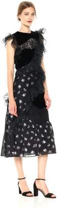 Rebecca Taylor Women's Sleeveless Floral Jacquard Dress