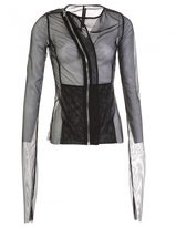 Rick Owens Lilies Asymmetric Zipped Jacket