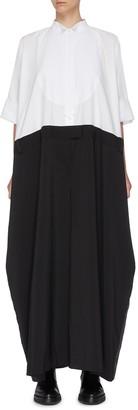 Sacai 'Bow Tie' wide colourblock panel jumpsuit