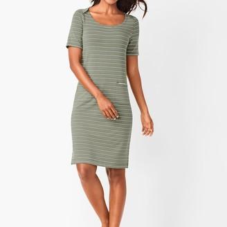 Talbots Patch-Pocket Stripe Dress