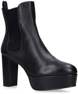 Stuart Weitzman Leather Sophina Heeled Boots 110