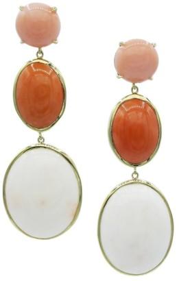 Ippolita Rock Candy 18K Yellow Gold & Coral Triple-Drop Earrings