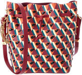 Sophie Hulme Small Watermelon Crystal Embellished Leather Bucket Bag