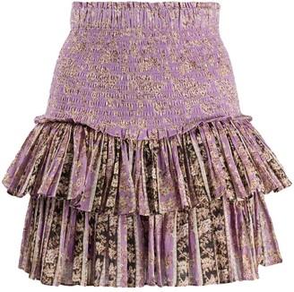 Etoile Isabel Marant Pleated Floral Mini Skirt
