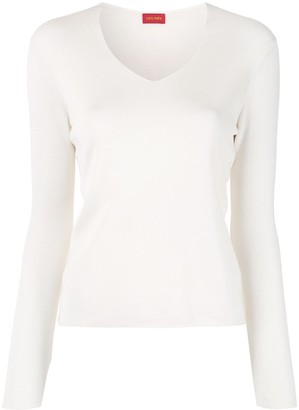 TOMORROWLAND V-neck silk pullover