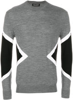 Neil Barrett symmetric graphic jumper