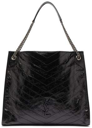 Saint Laurent Niki Large Quilted Leather Tote Bag - Womens - Black