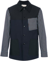 Marni checkered detail jacket - men - Cotton/Polyester/Virgin Wool - 46