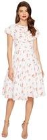 Unique Vintage Cherry Print Cap Sleeve Dixon Day Dress Women's Dress