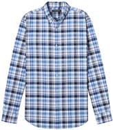 Banana Republic Camden Standard-Fit Cotton-Stretch Plaid Oxford Shirt