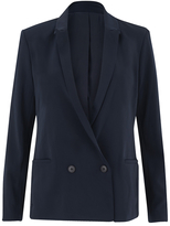 Samsoe & Samsoe Women's Aycon Blazer Total Eclipse