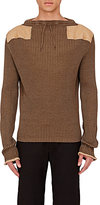 Maison Margiela Men's Wool-Cotton Sweater-DARK GREEN
