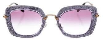 Miu Miu Glitter Noir Sunglasses
