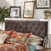 Three Posts Tripoli Upholstered Panel Headboard Size: Queen, Upholstery: Dark Gray