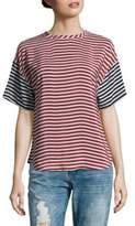 RED Valentino Ciliegia Stripe Silk Top