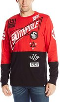 Southpole Men's Long Sleeve T-Shirt with Rubber Prints In Motor Theme