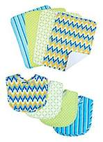 Trend Lab Eight Piece Savannah or Levi Bib and Burp Cloth Set