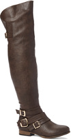 Wild Diva Brown Tosca Over-the-Knee Boot
