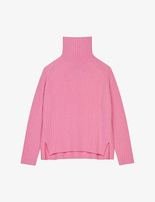 Maje Madinette turtleneck wool-blend jumper